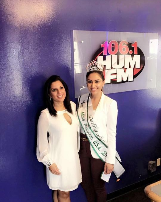 Hira Khan Miss Pakistan USA 2017 with Samia Adil